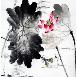 Chinese Lotus Painting - CNAG010209