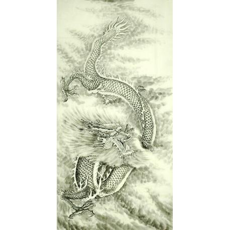 Chinese Dragon Painting - CNAG010239