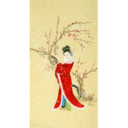 Chinese Beautiful Ladies Painting - CNAG010553