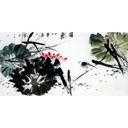 Chinese Lotus Painting - CNAG011133