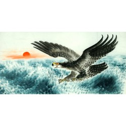 Chinese Eagle Painting - CNAG011296