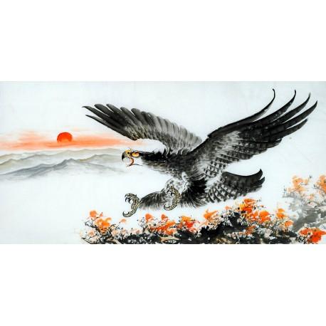 Chinese Eagle Painting - CNAG011350