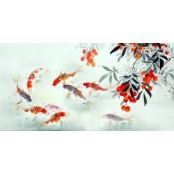 Chinese Carp Painting - CNAG011402