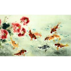 Chinese Carp Painting - CNAG011403
