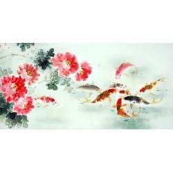 Chinese Carp Painting - CNAG011405