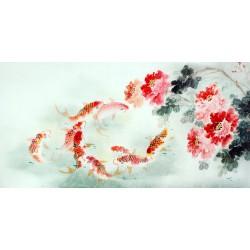 Chinese Carp Painting - CNAG011406