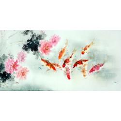Chinese Carp Painting - CNAG011407