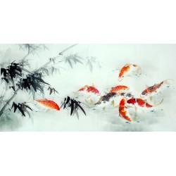 Chinese Carp Painting - CNAG011423