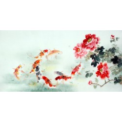 Chinese Carp Painting - CNAG011427