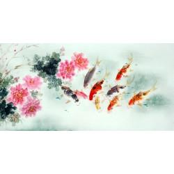 Chinese Carp Painting - CNAG011428