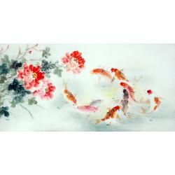 Chinese Carp Painting - CNAG011429