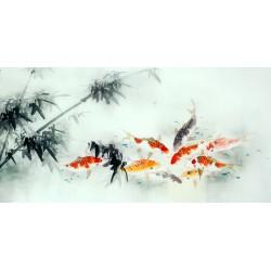 Chinese Carp Painting - CNAG011433