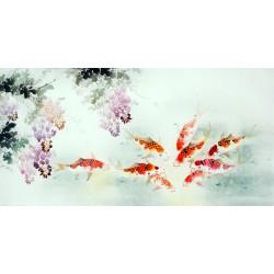 Chinese Carp Painting - CNAG011435