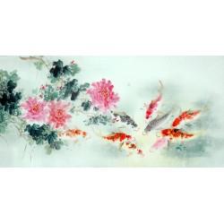 Chinese Carp Painting - CNAG011436