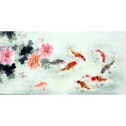 Chinese Carp Painting - CNAG011437