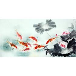 Chinese Carp Painting - CNAG011441