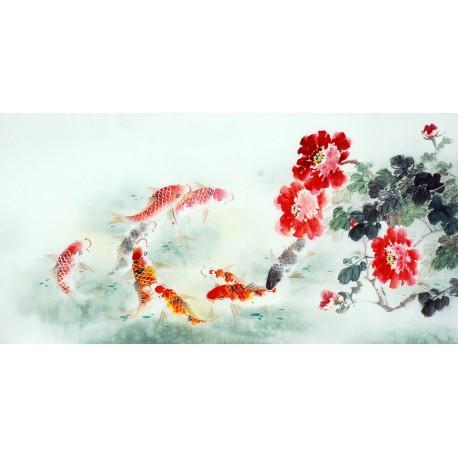 Chinese Carp Painting - CNAG011442