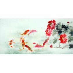 Chinese Carp Painting - CNAG011444