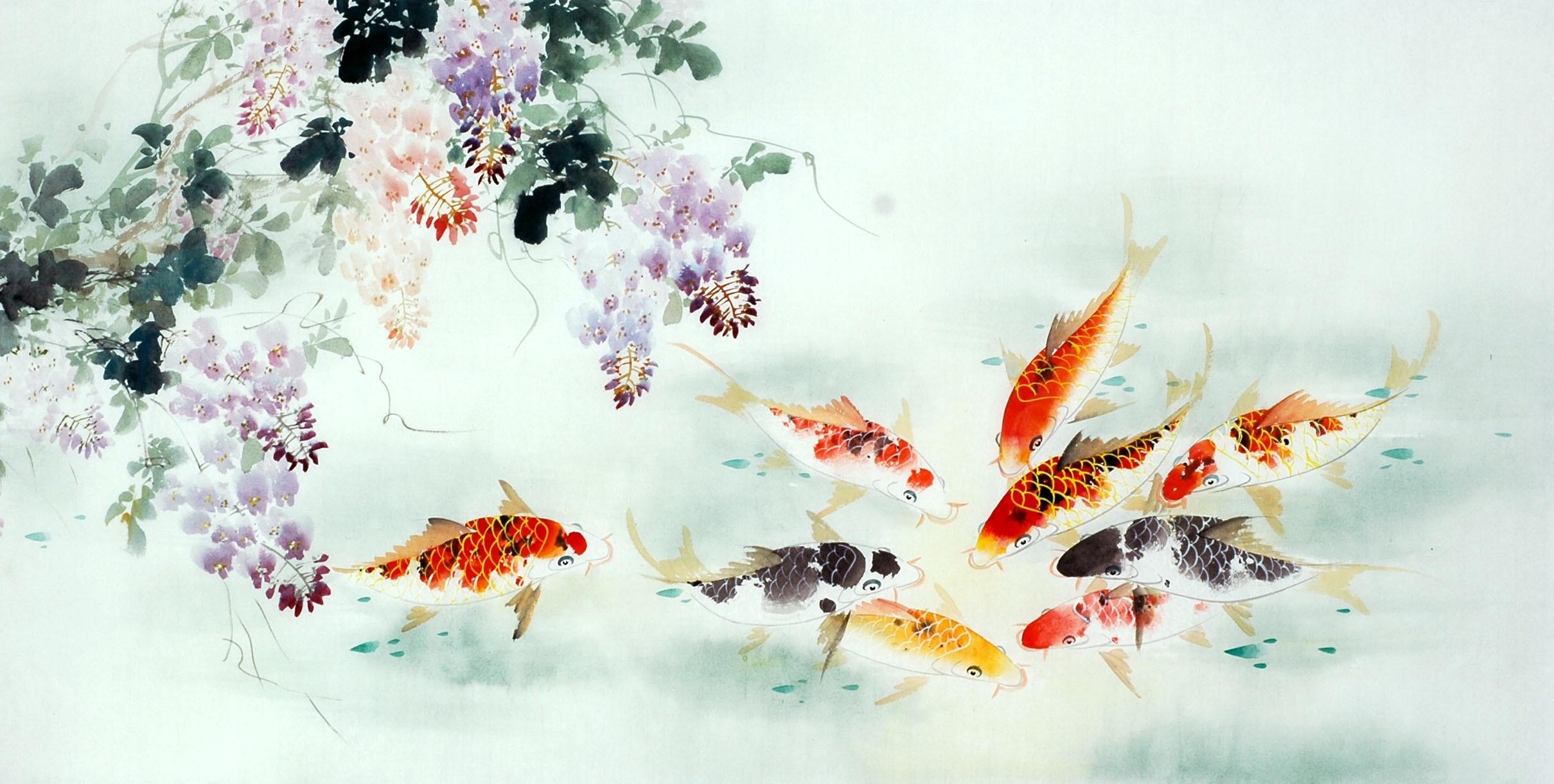 Chinese Carp Painting - CNAG011446