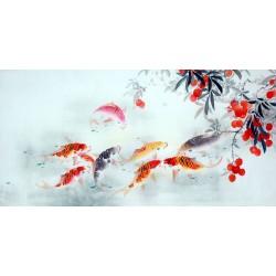 Chinese Carp Painting - CNAG011449