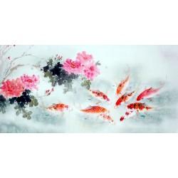 Chinese Carp Painting - CNAG011450