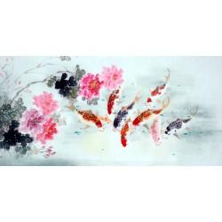 Chinese Carp Painting - CNAG011452