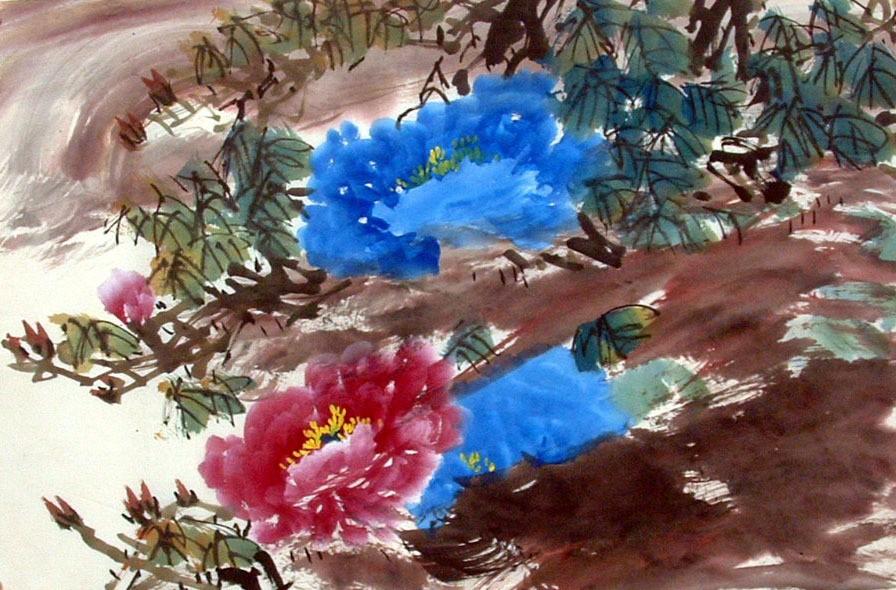 Chinese Peony Painting - CNAG011588