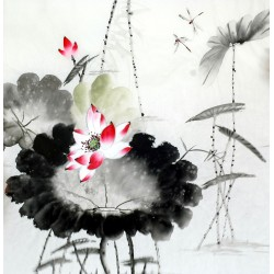 Chinese Lotus Painting - CNAG011727