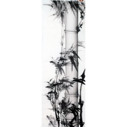 Chinese Ink Bamboo Painting - CNAG011946