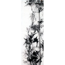 Chinese Ink Bamboo Painting - CNAG011979
