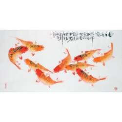 Chinese Fish Painting - CNAG013224