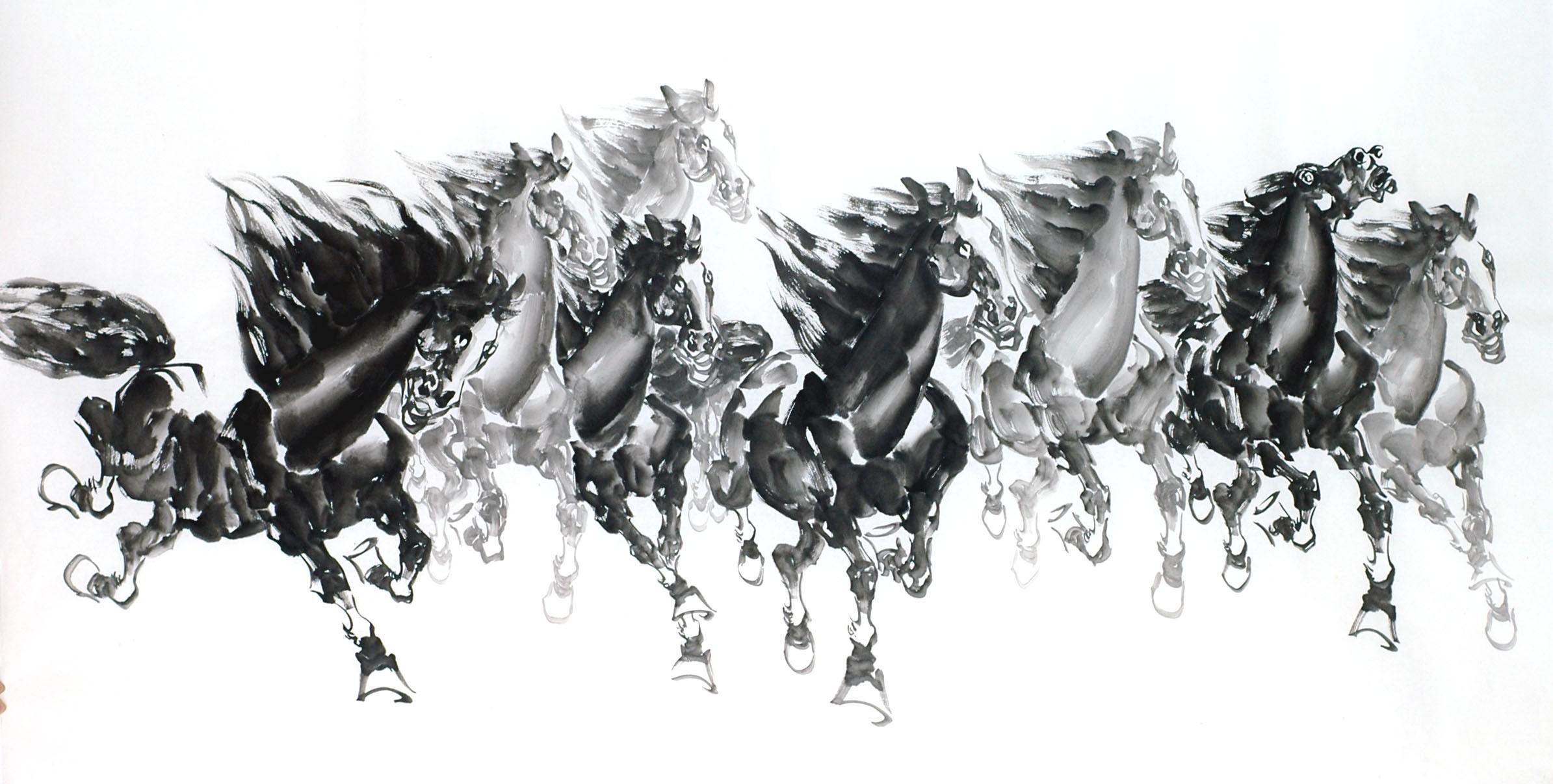 Chinese Horse Painting - CNAG013321