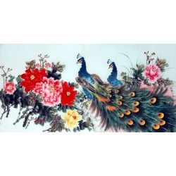 Chinese Peacock Painting - CNAG013324