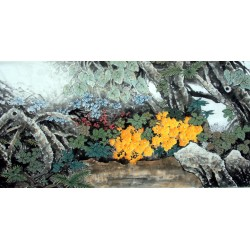 Chinese Lotus Painting - CNAG013520