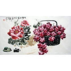 Chinese Grapes Painting - CNAG013627