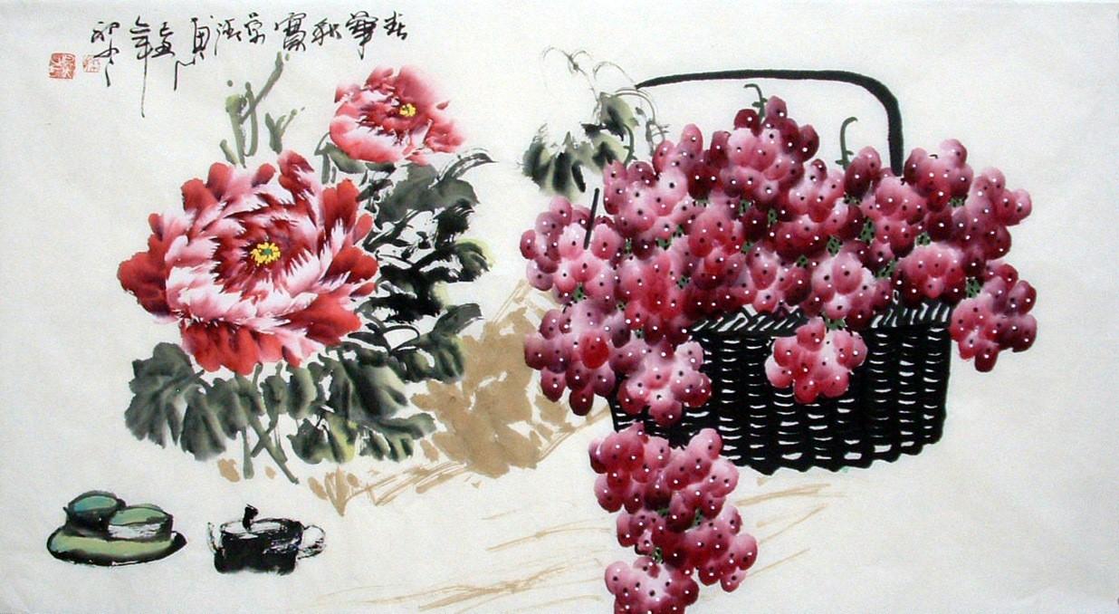 Chinese Grapes Painting - CNAG013627
