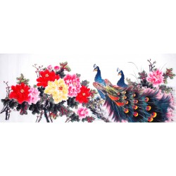 Chinese Peacock Painting - CNAG013839