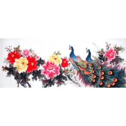 Chinese Peacock Painting - CNAG013842