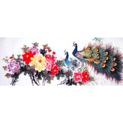 Chinese Peacock Painting - CNAG013891