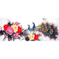 Chinese Peacock Painting - CNAG013918
