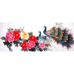 Chinese Peacock Painting - CNAG013920
