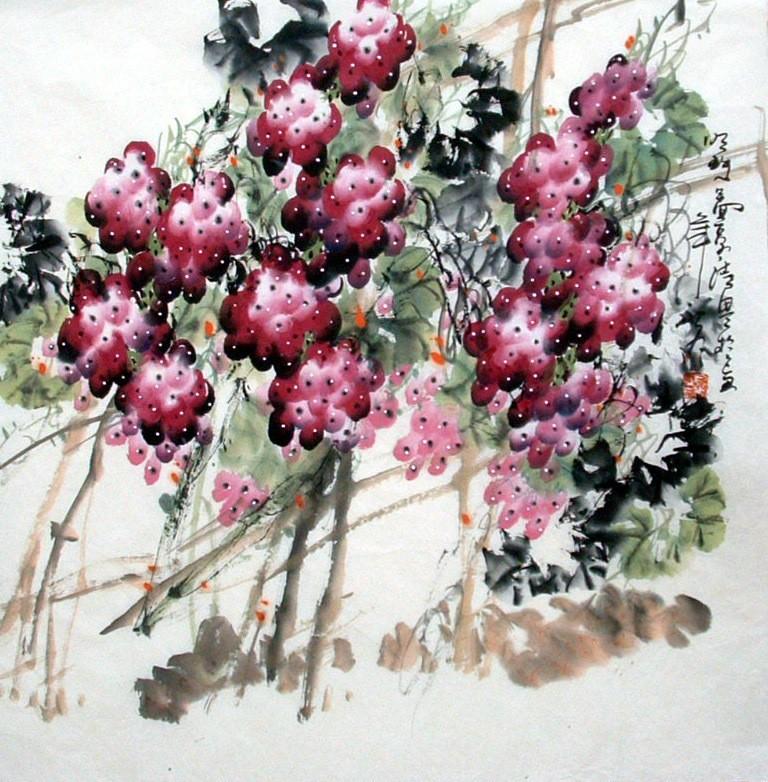Chinese Grapes Painting - CNAG014290