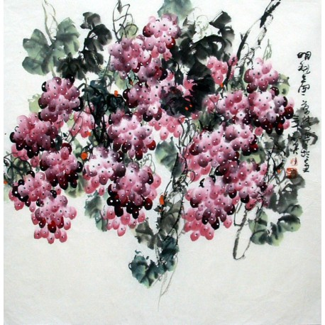 Chinese Grapes Painting - CNAG014291
