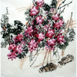 Chinese Grapes Painting - CNAG014292