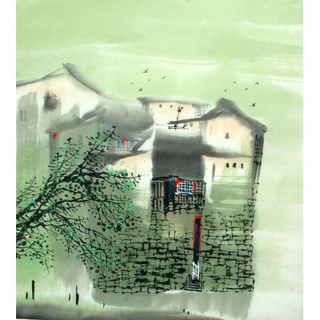 Chinese Water Township Painting - CNAG014313