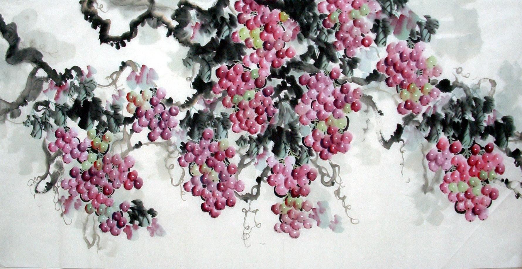 Chinese Grapes Painting - CNAG014367
