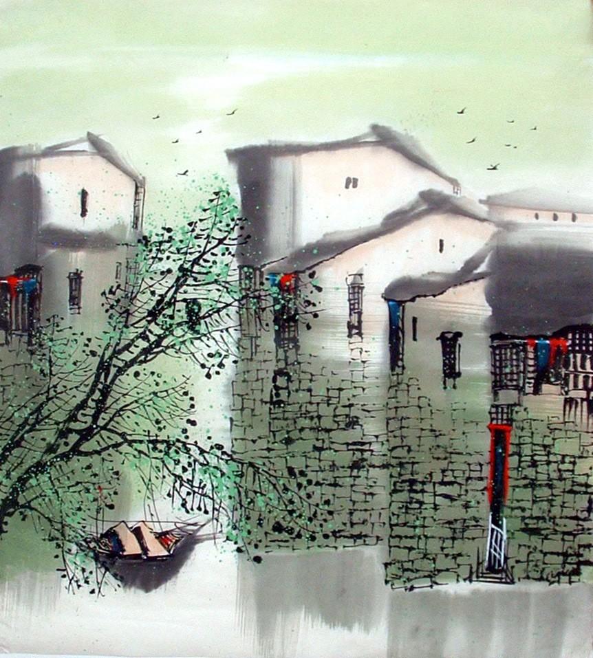 Chinese Water Township Painting - CNAG014476
