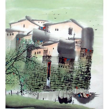 Chinese Water Township Painting - CNAG014478