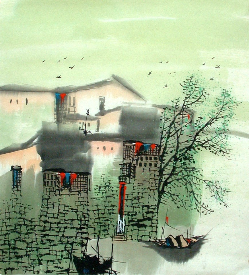 Chinese Water Township Painting - CNAG014479