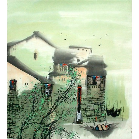 Chinese Water Township Painting - CNAG014480